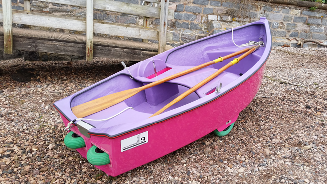 easyLAUNCH Dinghy with built in dinghy launching wheels